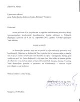 Adnan Zahirović zahvalnica