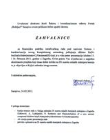 Adnan Zahirović finansijska podrška zahvalnica