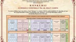 KONKURSI ZA DODJELU STIPENDIJA U ŠK./AK. 2016/17. GODINI